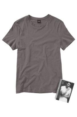 T-Shirt aus Jersey-Baumwolle, Hellgrau