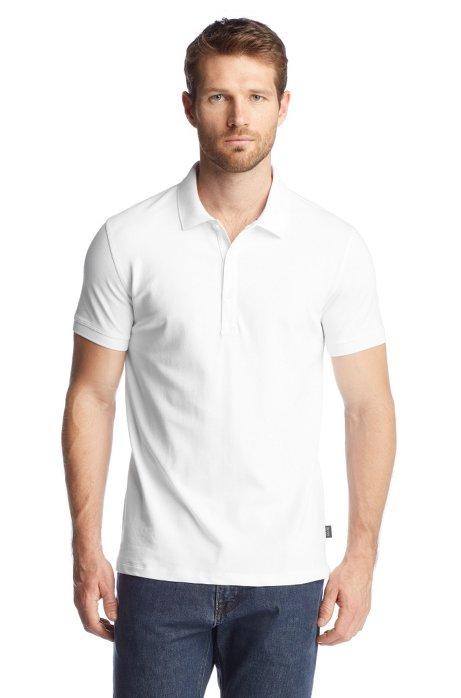 Piqué polo shirt 'Forli 05 Modern Essential', White