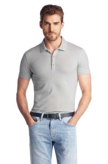 Piqué polo shirt 'Forli 05 Modern Essential', Open White