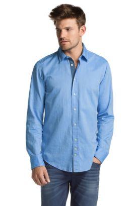Chemise détente de coupe Slim Fit, CliffE, Bleu vif