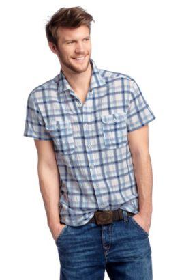 Chemise détente à col Kent, CasoE, Bleu