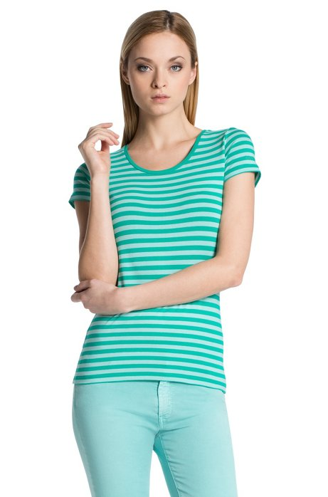 Blended cotton T-shirt 'Debia_2', Green