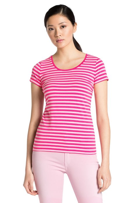 Blended cotton T-shirt 'Debia_2', Pink