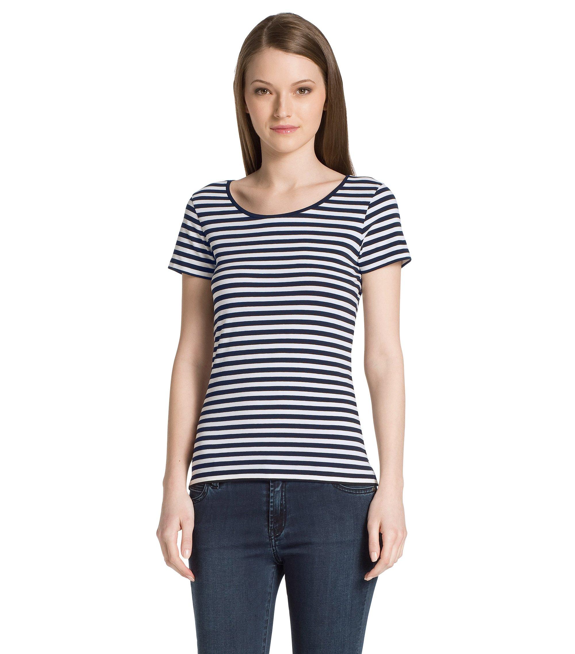 T-Shirt ´Debia_2` aus Baumwoll-Mix, Gemustert