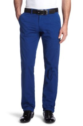 Chino de coupe Regular Fit, Crigan 1-11-D, Bleu