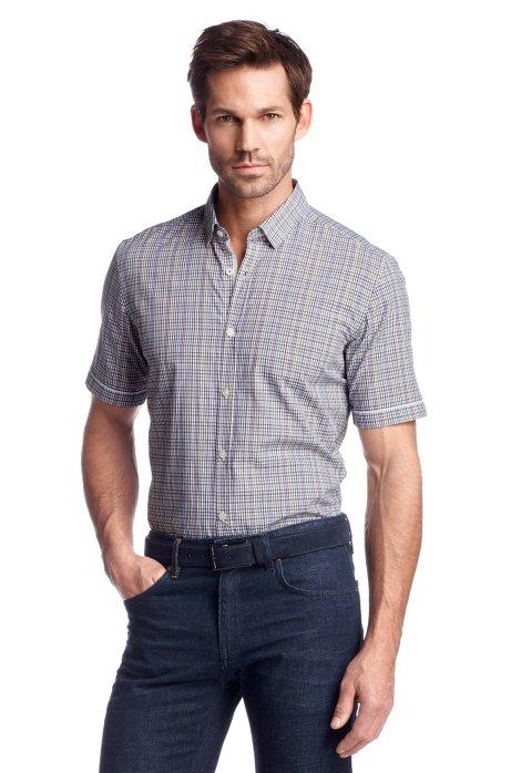 Casual shirt 'Ring_1 Modern Essentials', Purple