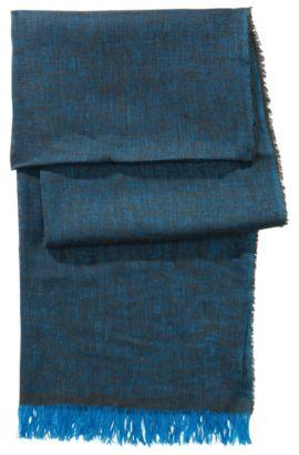 Schal ´Men-Z 384` aus Leinen-Seiden Gemisch, Türkis