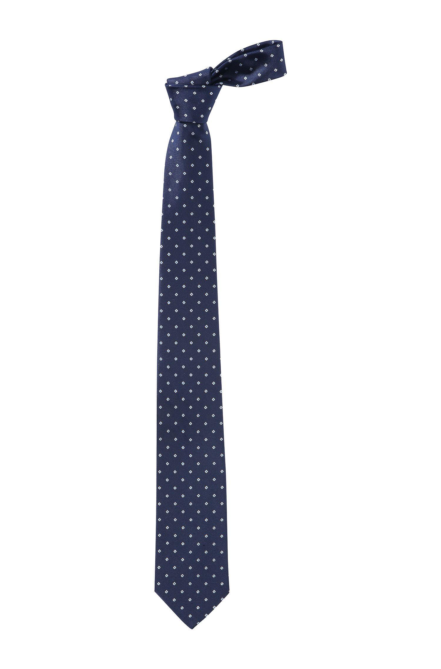 Stropdas ´Tie 7,5 cm traveller`van zuivere zijde, Donkerblauw