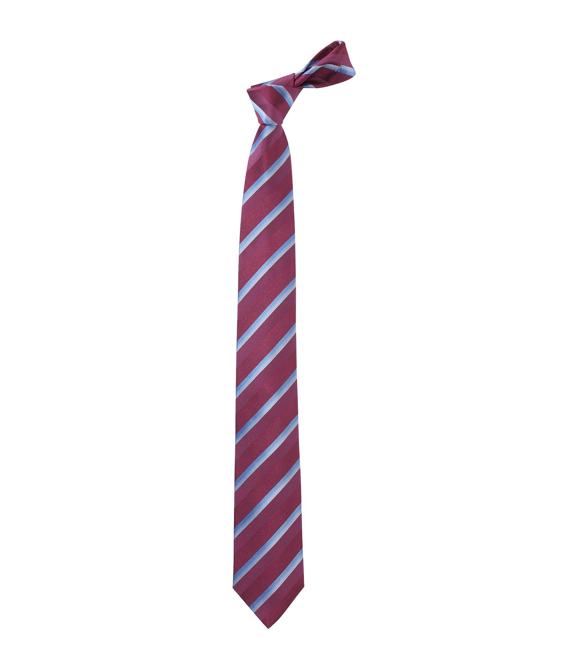 Stropdas ´Tie 7,5 cm traveller`van zuivere zijde, Pink