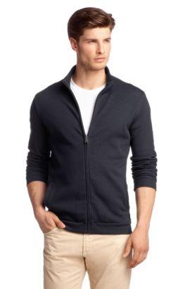 Sweatshirt-Jacke ´Cannobio 42` aus Baumwoll-Mix, Dunkelblau