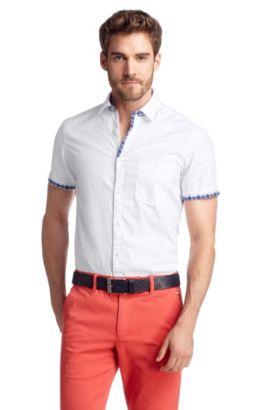 Chemise détente à col Kent, Blob, Blanc