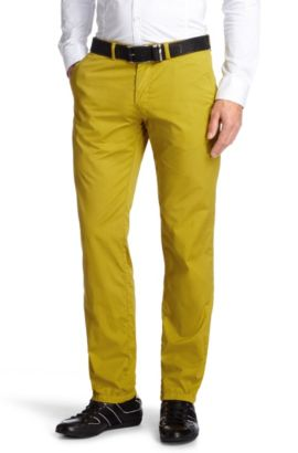 Chino de coupe Regular Fit, Crigan2-5-D, Chaux