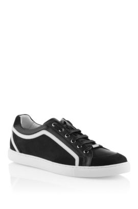 Sneaker made of nubuck leather and calfskin, Black