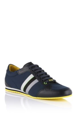 Sneaker with fabric trim 'Victoire Neo', Dark Blue