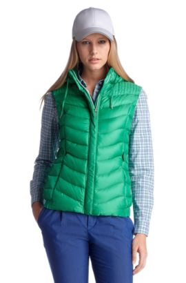Down body warmer with band collar 'Jiovane', Green