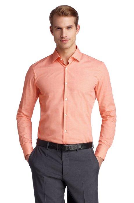 Business shirt with narrow Kent collar 'Jenno', Orange
