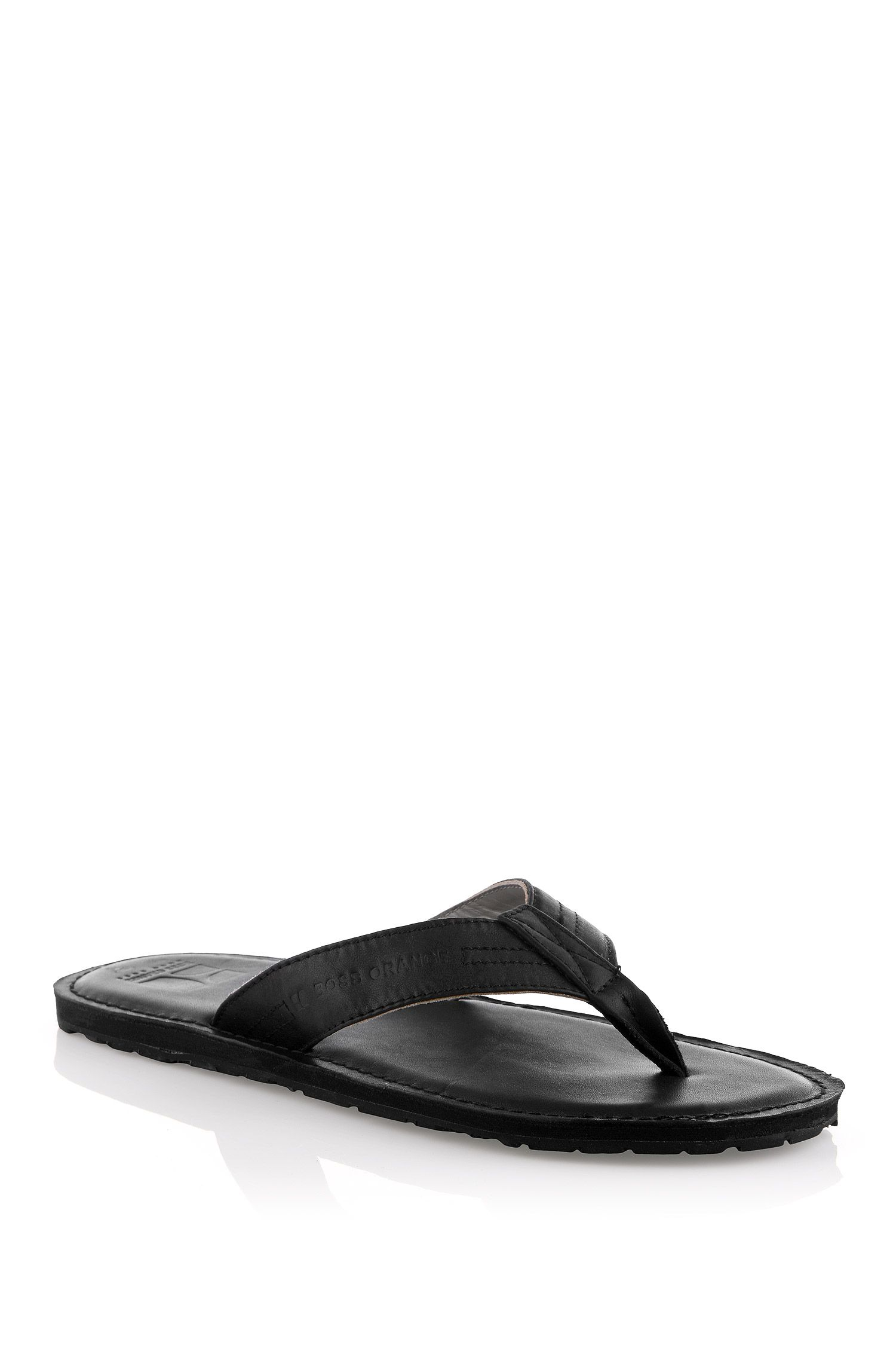 Sandales à entredoigts et bride en cuir, Longio