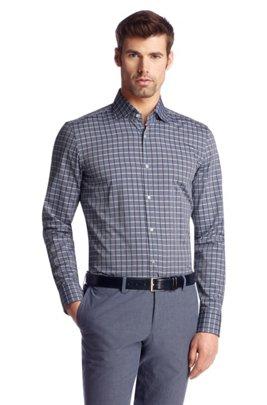 Regular Fit business shirt made of cotton'Jaron', Open Green
