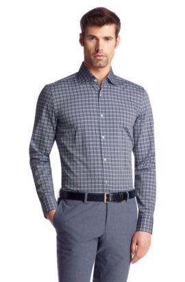 Regular fit business-overhemd ´Jaron`van katoen, Kalk