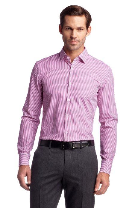 Travel Line business shirt 'Jenno', Open Pink