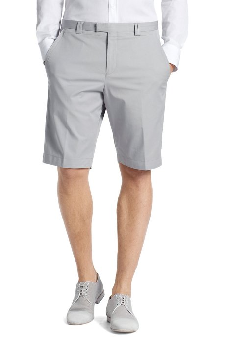 Bermuda shorts made of blended cotton 'Himmo', Grey