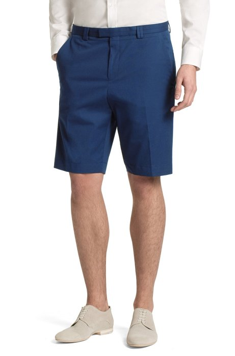 Bermuda shorts made of blended cotton 'Himmo', Dark Blue