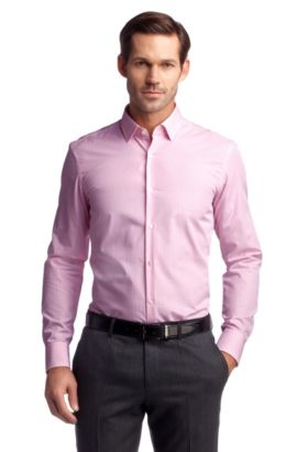 Businessoverhemd ´Jenno` uit de Travel Line, Pink