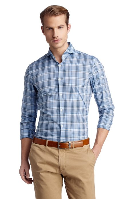 Business shirt with Kent collar 'Dwayne', Dark Blue