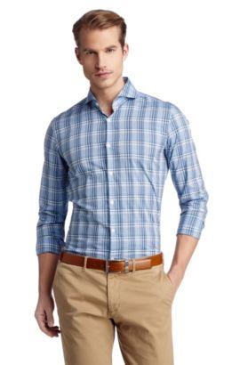 Businessoverhemd 'Dwayne' met kentkraag, Donkerblauw