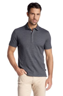 Regular-Fit Polo ´Fontana 21` aus Baumwolle, Dunkelblau