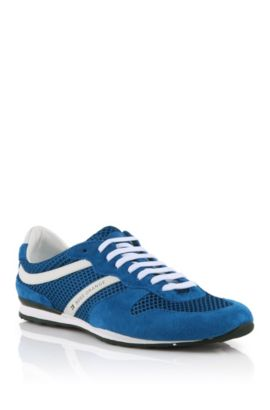 Tennis en cuir velours, Orlenno, Bleu