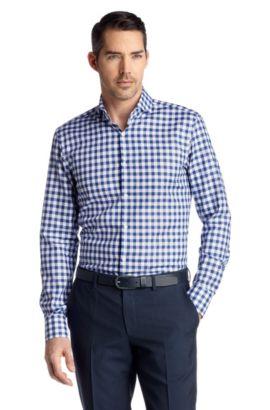 Slim-Fit Business-Hemd ´Dwayne` aus Baumwolle, Dunkelblau