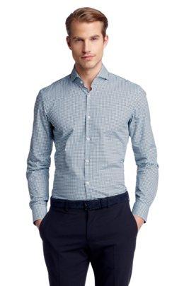 Business shirt with shark collar 'Dwayne', Open Green
