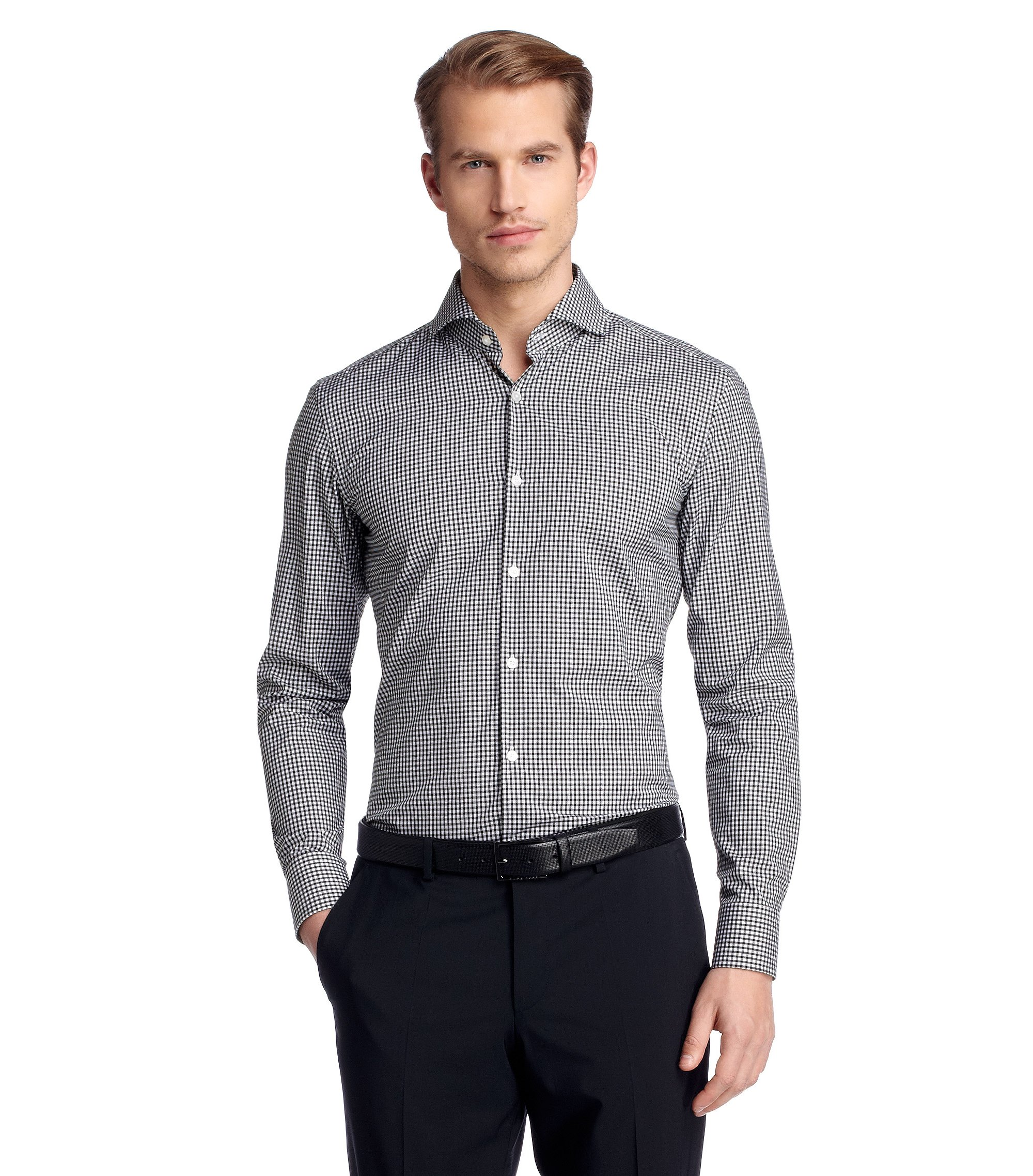 Business-Hemd ´Dwayne` mit Kentkragen, Schwarz