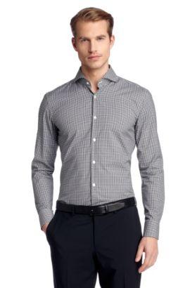 Business-overhemd ´Dwayne` met kentkraag, Zwart