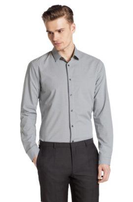 Slim-Fit Freizeit-Hemd ´Etti1` mit Kentkragen, Grau