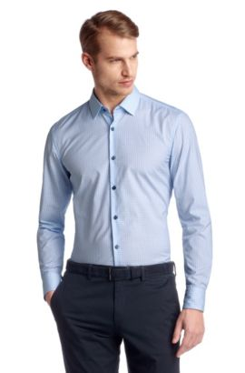 Slim-Fit Business-Hemd ´Juri` mit Kentkragen, Hellblau