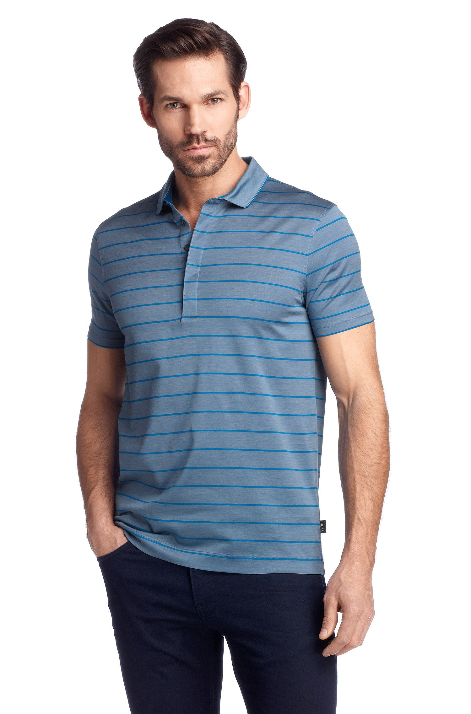Polo Regular Fit en jersey, Rapino16