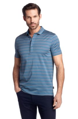 Polo Regular Fit en jersey, Rapino16, Turquoise