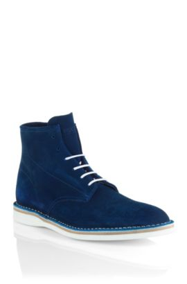 Lace-up suede boot 'Destio', Blue