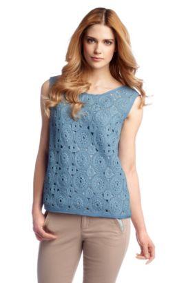 Top en pur coton, Kafende, Turquoise
