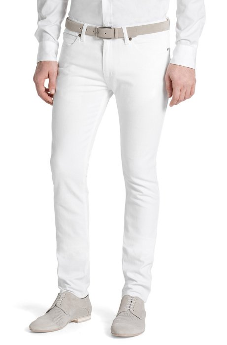 Slim fit jeans 'HUGO 734', White