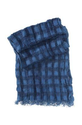 Schal ´Notcar1` aus reinem Leinen, Blau