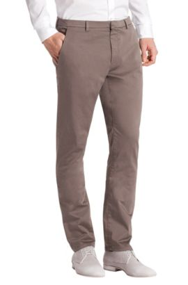 New chino fit broek ´Helgo-D`, Kaki