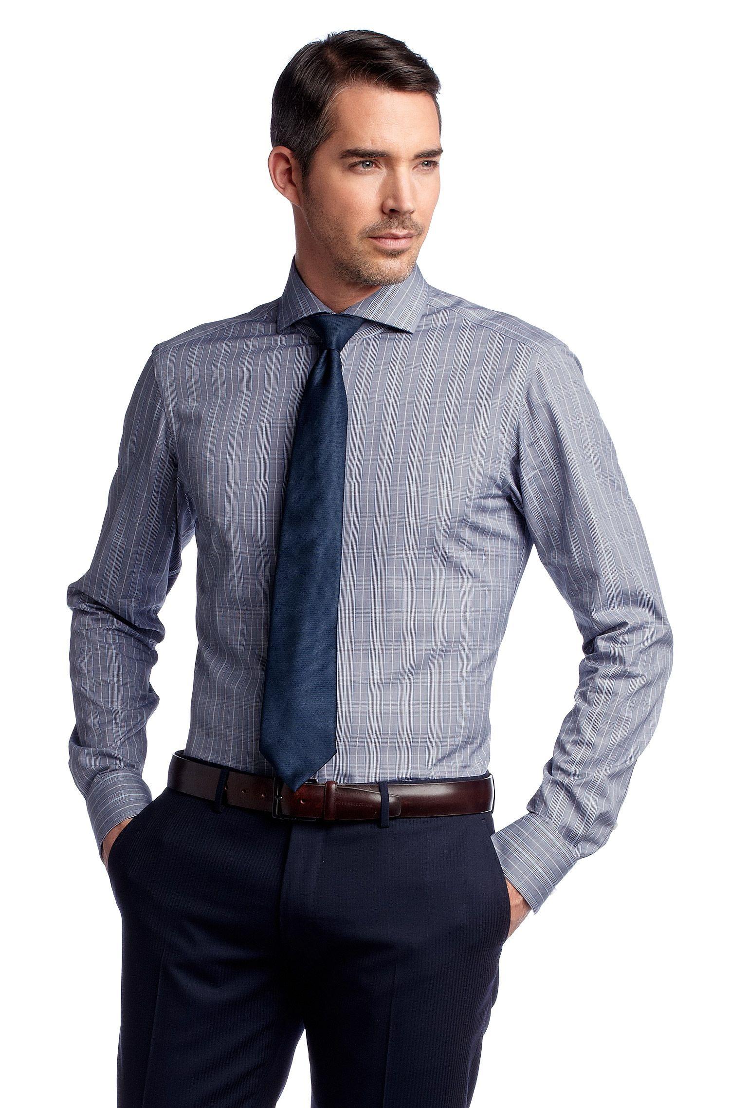Chemise business à carreaux tissés, Christo