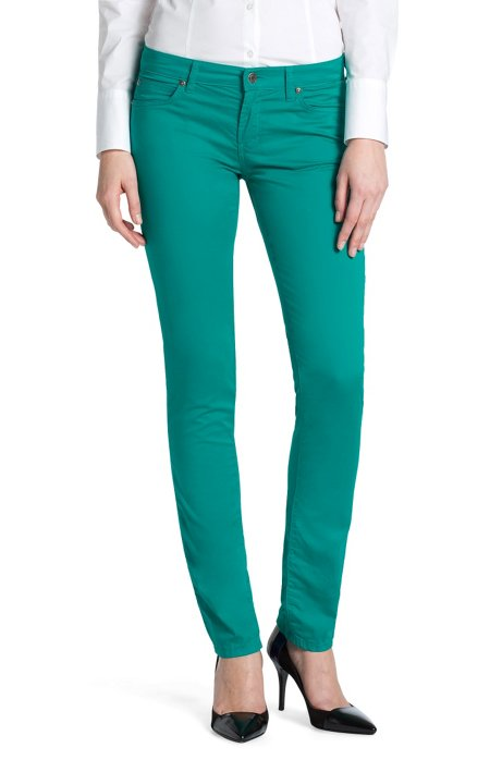 Slim fit trousers 'Gemini', Green