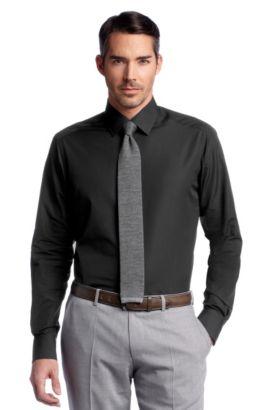 Business-Hemd ´Stirling` mit Kentkragen, Schwarz