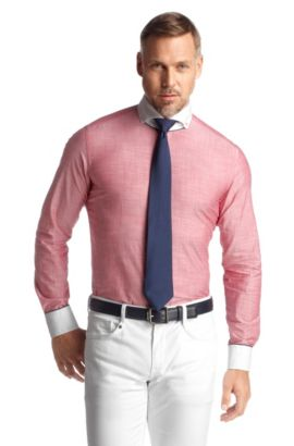 Freizeit-Hemd ´Stewell` mit Button-down-Kragen, Rot