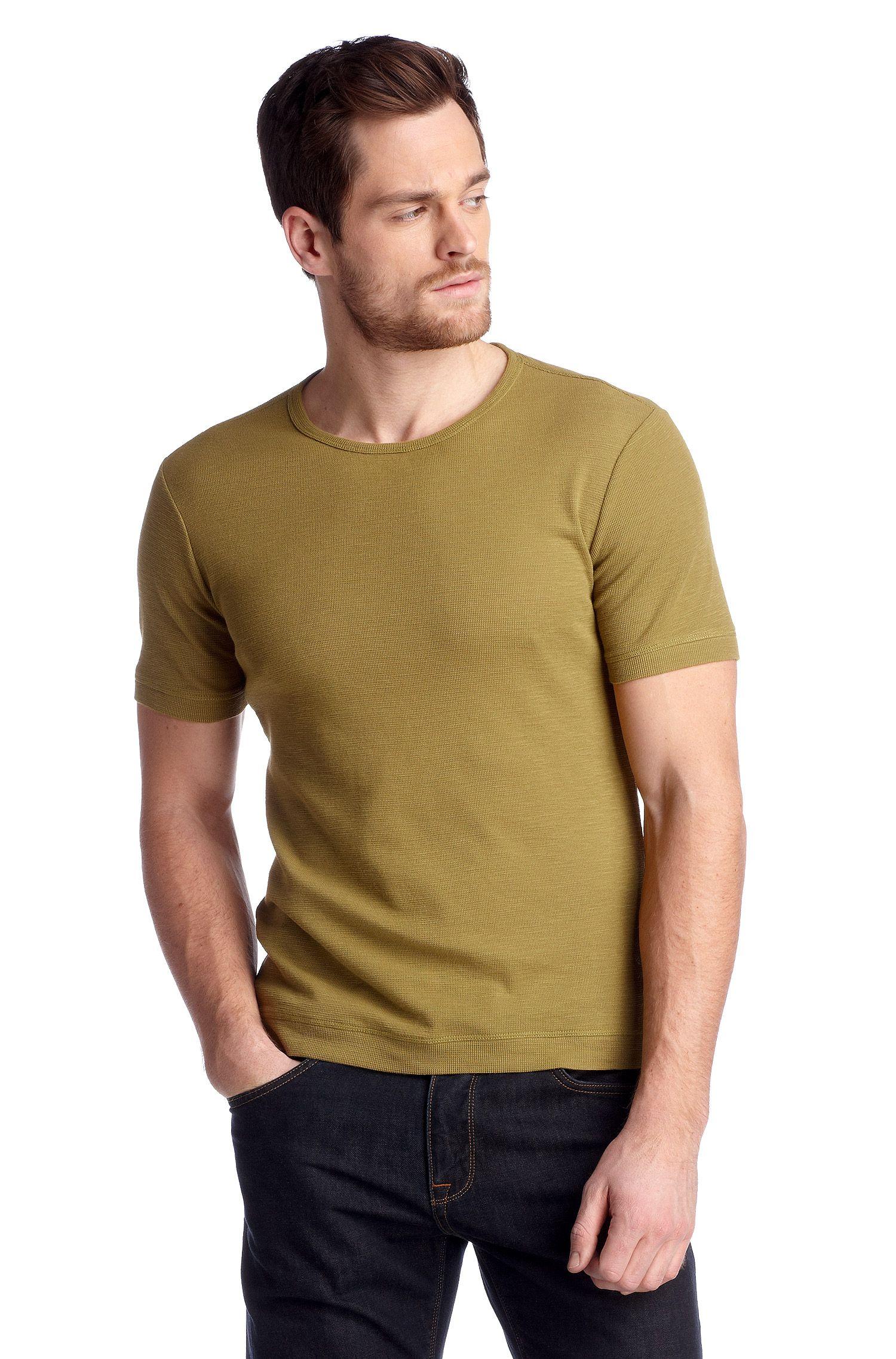 Slim-Fit Strickshirt ´Lecco` mit Rundhals-Ausschnitt