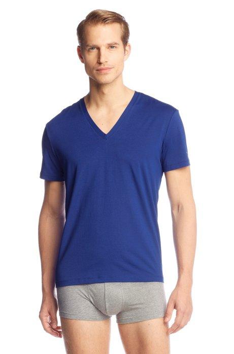 V-neck T-shirt 'SS VN BM', Blue